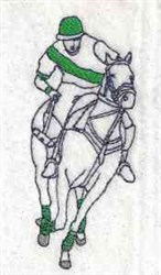 Horseback Polo embroidery design