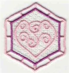 FSL Heart Sachet embroidery design