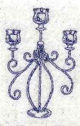 Bluework Candle Holder embroidery design