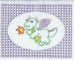 Dragon Lace Frame embroidery design