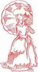 Victorian Rainy Day Lady embroidery design