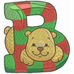 Christmas Font Letter B embroidery design