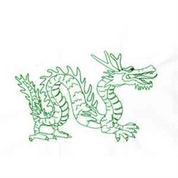 New Years Dragon embroidery design