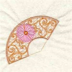 Lace Fan embroidery design