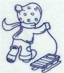Bluework Winter Bonnet Boy embroidery design