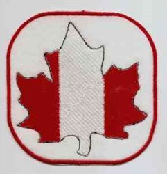 Canadian Coaster embroidery design