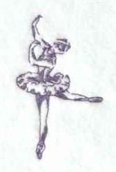 Bluework Ballerina embroidery design