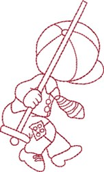 Redwork Boy & Swing embroidery design