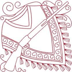 Redwork Serape & Rifle embroidery design