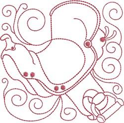 Redwork Sadle embroidery design