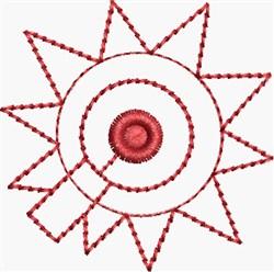 Redwork Spur embroidery design