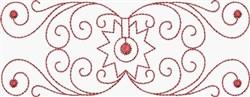 Redwork Scrolls & Spur embroidery design