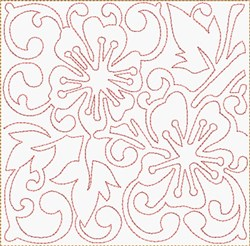 Cherry Blossom Block embroidery design