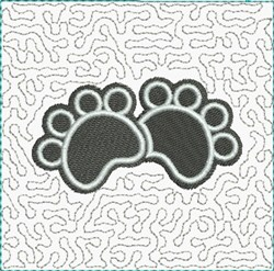 Cat Paws Block embroidery design