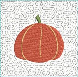 Pumpkin Quilting Block embroidery design