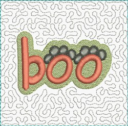 Boo Paws Block embroidery design
