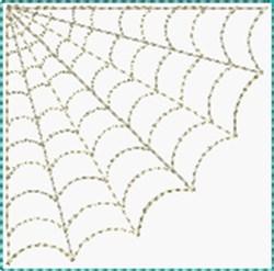 Spider Corner Block embroidery design