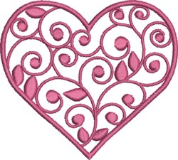 Hot Pink Heart embroidery design