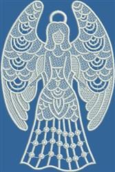 FSL Grateful Angel embroidery design
