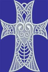 FSL Faith Heart Cross embroidery design