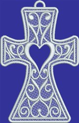 FSL Hope Heart Cross embroidery design