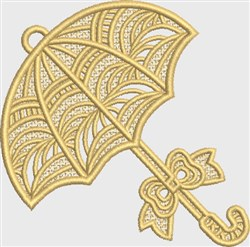 FSL Yellow Umbrella embroidery design