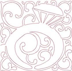 Redwork Golden Ring embroidery design