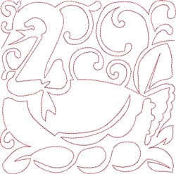 Redwork Geese Block embroidery design