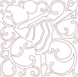 Redwork Dancer Block embroidery design