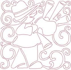 Redwork Piper Block embroidery design