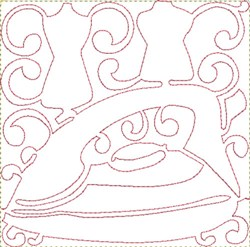 Iron Quilting Block embroidery design