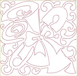 Safety Pin Block embroidery design