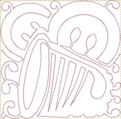 Thimble Button Block embroidery design