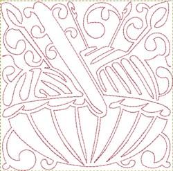 Yarn Needles Block embroidery design