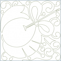 Sewing Tomato Block embroidery design