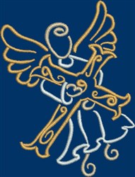 Angel Carrying Cross embroidery design