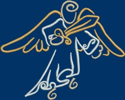 Angel with Sword embroidery design