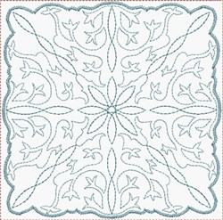 Floral Quilt Square embroidery design
