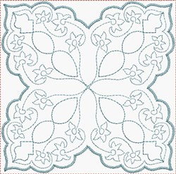 Loopy Quilt Block embroidery design