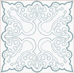 Quilt Flower Block embroidery design