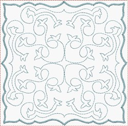 Flower Quilt Square embroidery design