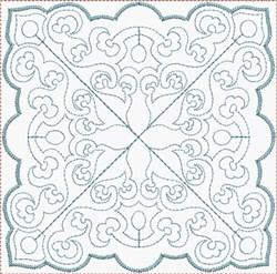 Square Floral Block embroidery design
