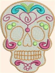 Skull Flourish embroidery design