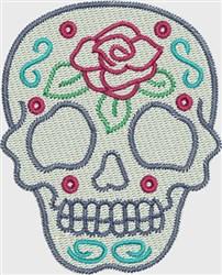 Skull Rose embroidery design