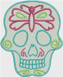 Skull Dragonfly embroidery design