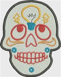 Bright Idea Skull embroidery design