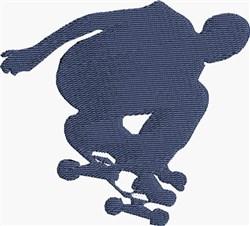 Skateboard Silhouette embroidery design