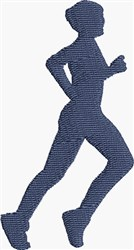 Woman Jogger embroidery design