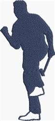 Celebrating Golfer embroidery design
