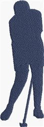 Woman Golfer embroidery design
